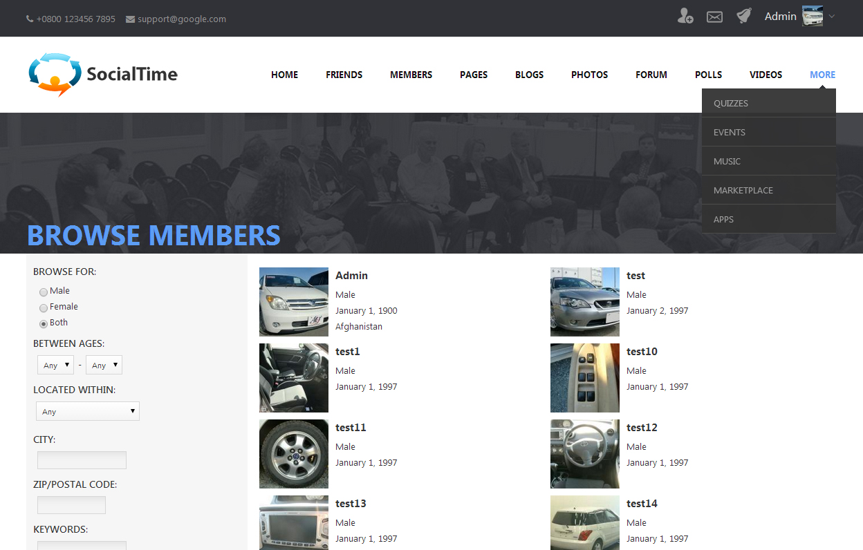 SocialTime Template 3.8 - plugin for PhpFox.